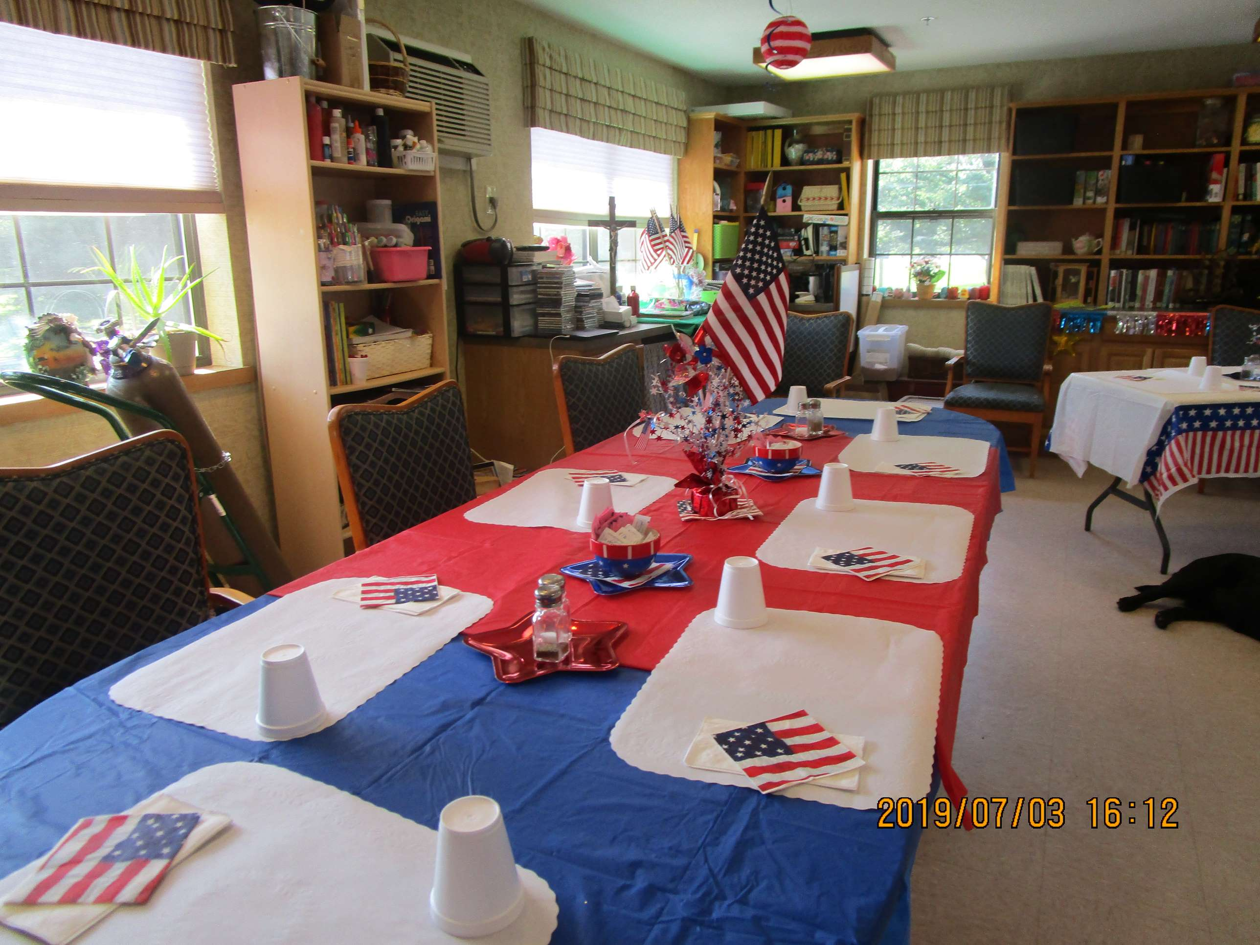 crystal lake rehab celebrate the 4th breakfast table