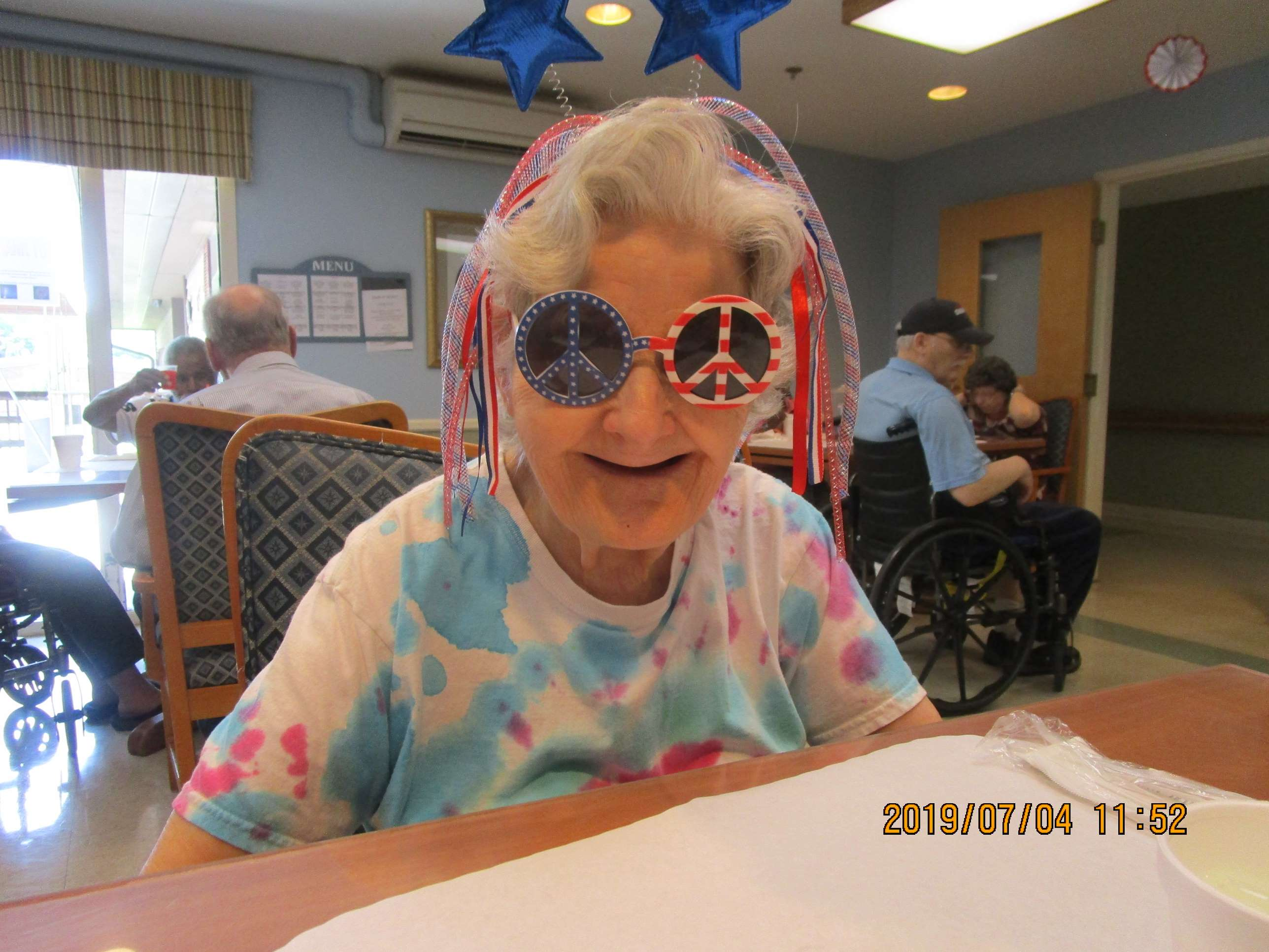crystal lake rehab celebrate the 4th breakfast sunglasses american